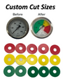 Custom Size Gauge Film Circles (5 Pack)