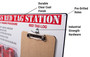 5s Red Tag Board with Clipboard (100 Red Tags Included) Red Tag Station