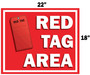 Red Tag Area Sign Hanging Sign V3