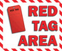 Red Tag Area Sign Hanging Sign V4