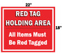 Red Tag Area Sign Hanging Sign V6