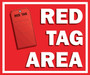 Red Tag Area Floor Sign V2