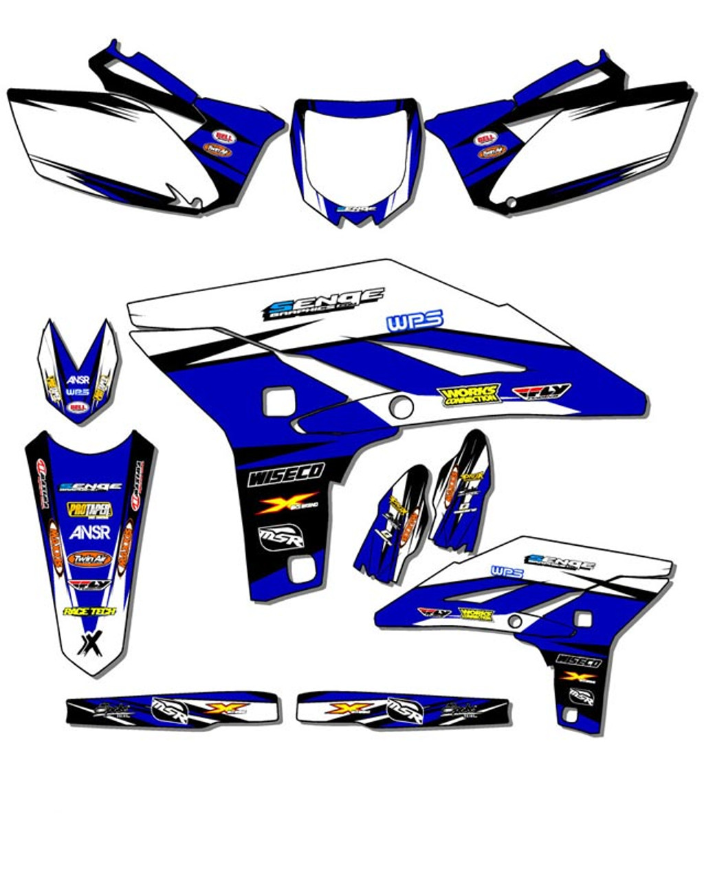Compatible with Yamaha Senge Graphics 2008-2020 TTR 125 Space Kadet Base kit