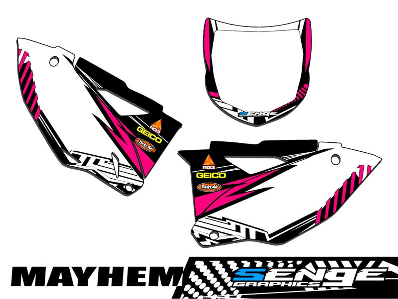 MAYHEM PINK CUSTOM MX PLATES