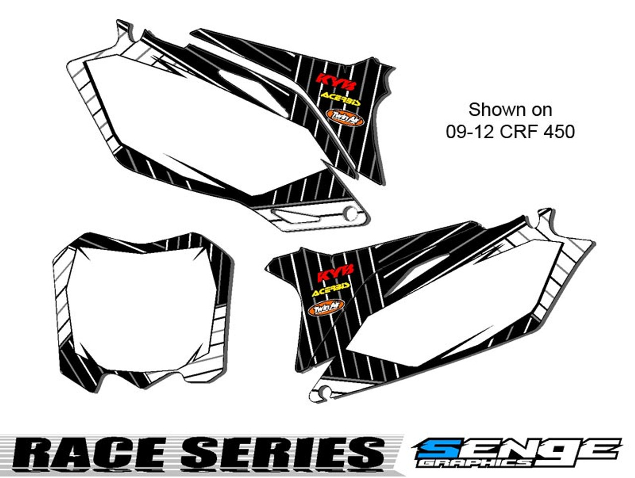 RACE SERIES WHITE CUSTOM MX NUMBER PLATES