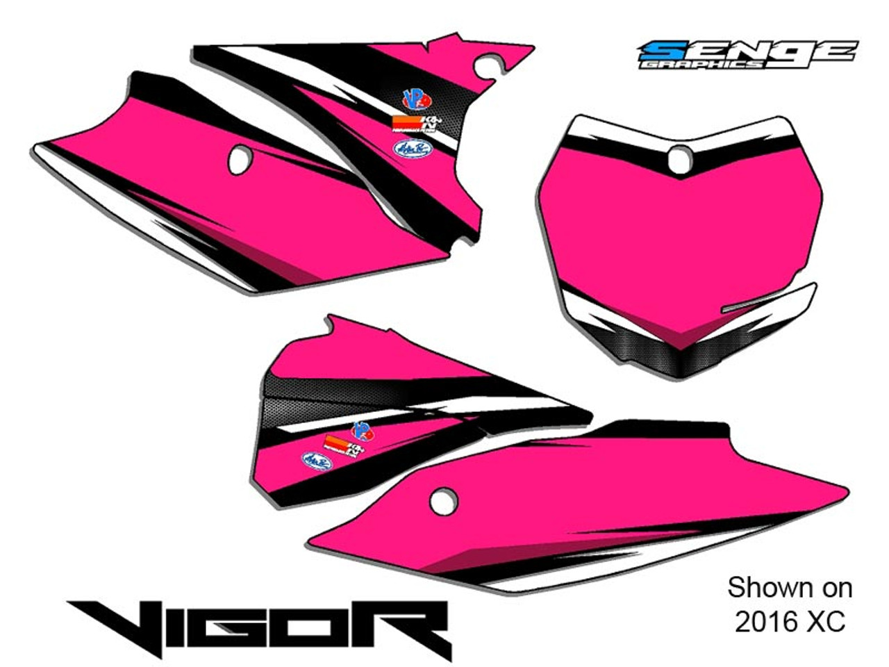 VIGOR PINK CUSTOM MX NUMBER BACKGROUNDS