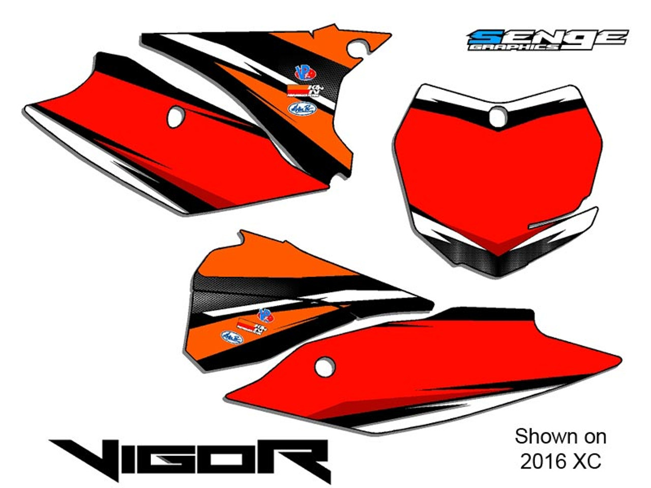 VIGOR ORANGE CUSTOM MX NUMBER BACKGROUNDS