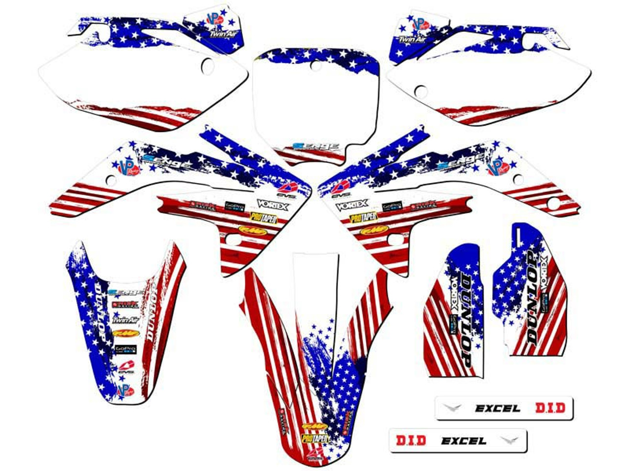 MERICA Graphics Kit for CRF 150R