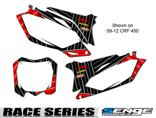 RACE SERIES RED CUSTOM MX NUMBER PLATES