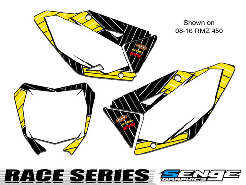 RACE SERIES YELLOW CUSTOM MX NUMBER PLATES