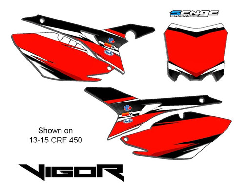 VIGOR RED CUSTOM MX NUMBER BACKGROUNDS