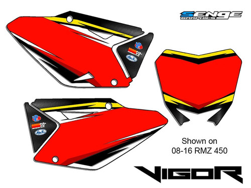 VIGOR YELLOW CUSTOM MX NUMBER BACKGROUNDS