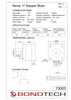 NEMA17 25mm stepper motor specification sheet.