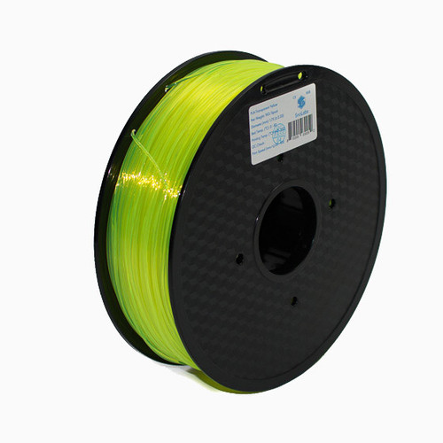 A 1KG spool of SnoLabs Transparent Yellow PLA (1.75mm)