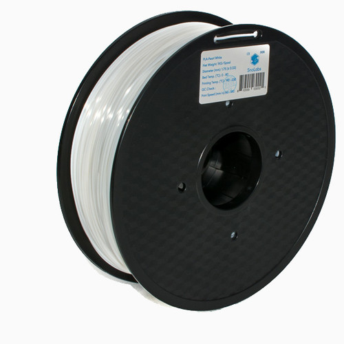 A 1KG spool of SnoLabs Pearl White PLA (1.75mm)