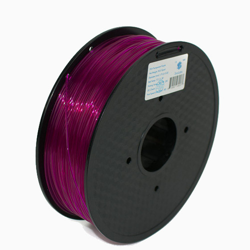 A 1KG spool of SnoLabs Transparent Purple PLA (1.75mm)