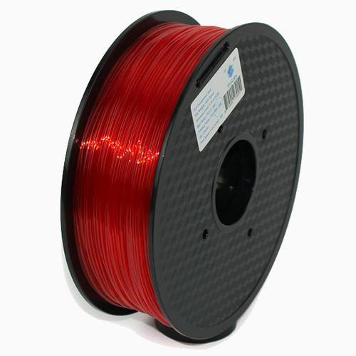 A 1KG spool of SnoLabs Transparent Red PLA (1.75mm)