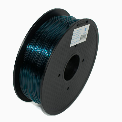 A 1KG spool of SnoLabs Transparent Atrovirens PETG (1.75mm)