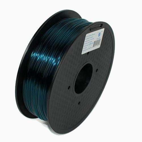 A 1KG spool of SnoLabs Transparent Atrovirens PETG (1.75mm)