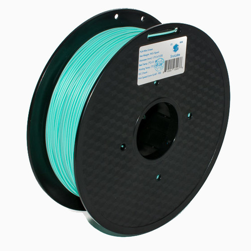 A 1KG spool of SnoLabs Mint Green PLA+ (1.75mm)