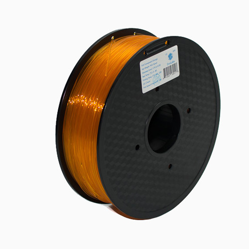 A 1KG spool of SnoLabs Transparent Orange PLA+ (1.75mm)