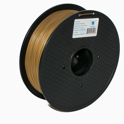 A 1KG spool of SnoLabs Golden PLA+ (1.75mm)
