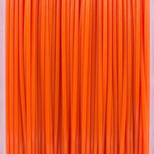 A close up of our orange filaments.