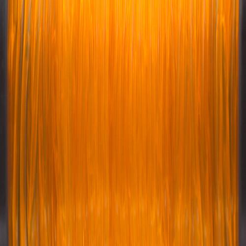 A close up of our transparent orange filaments.