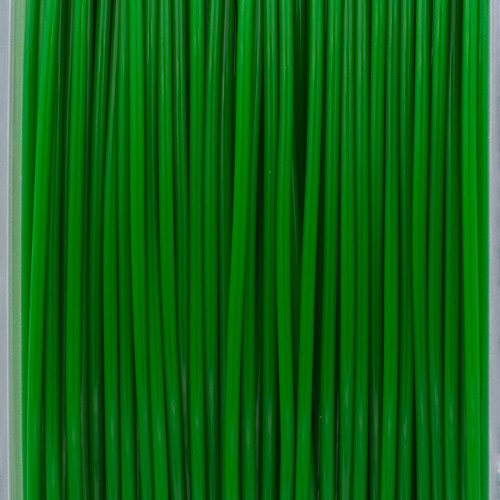 A close up of our shamrock green filaments.