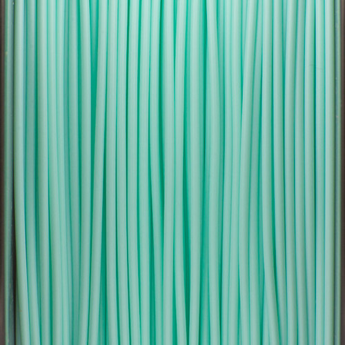 A close up of our mint green filaments.