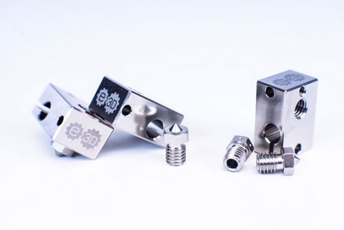 Assortment of E3D V6 copper plated heater blocks.