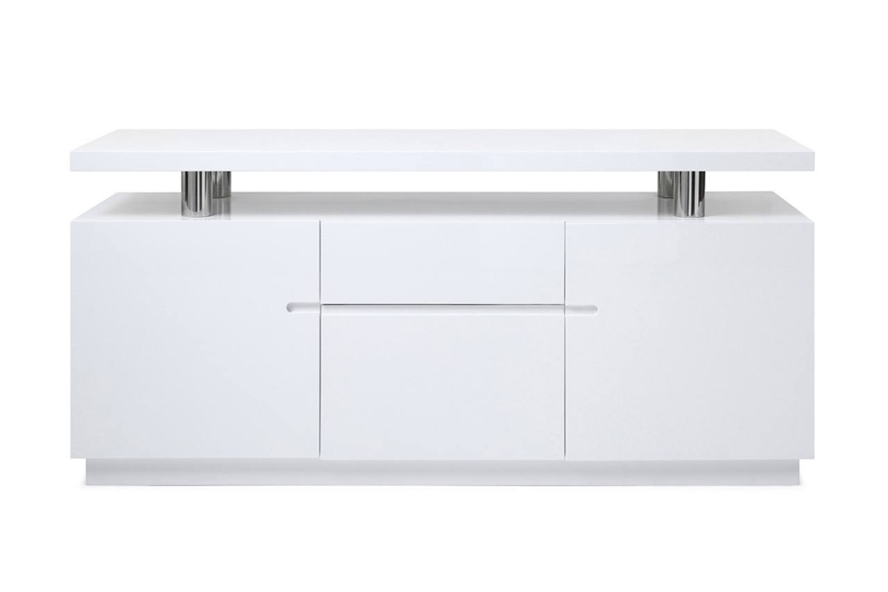 Modrest Stanford Modern White Office Credenza on light bulb chandelier modern, elite modern, nuevo modern, zen modern,
