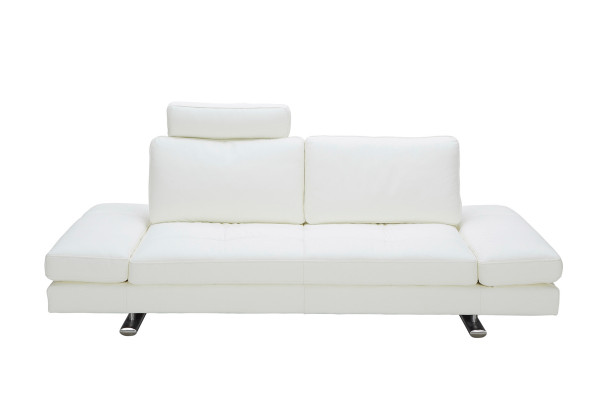 Brilliant Divani Casa Chase Modern White Leather Sofa Ocoug Best Dining Table And Chair Ideas Images Ocougorg