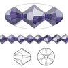 144 Swarovski Purple Velvet 6mm Xilion Crystal Bicone Beads (5328)