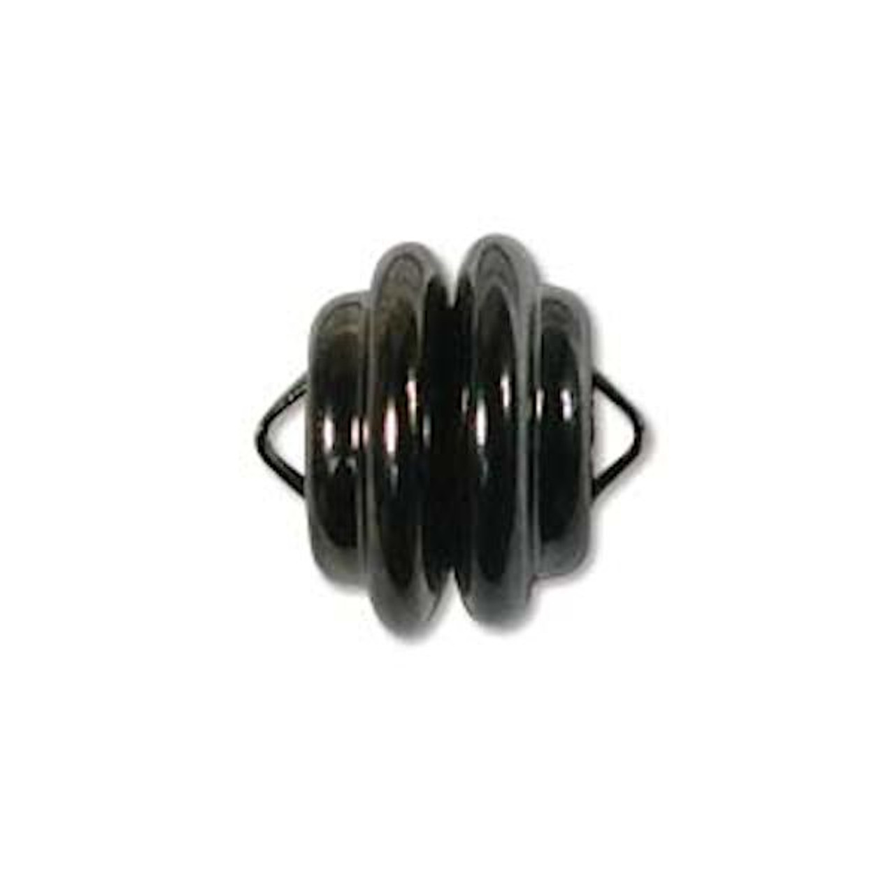 12 Black Oxide Plated Steel Strong 6mm Magnetic Clasps with 2mm Loops