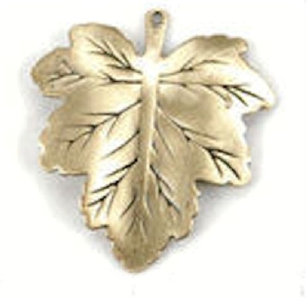 3 Antiqued Gold 24x26mm Maple Leaf Pendant Charms Leaves *