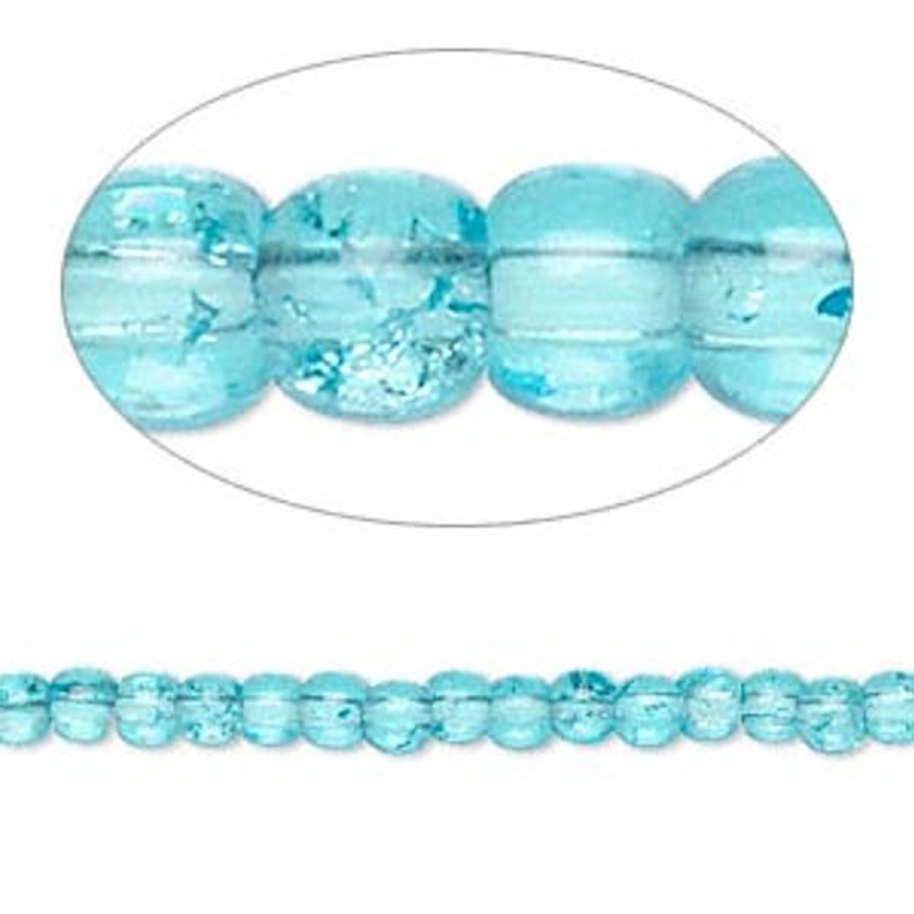 4mm and 10mm  1A Crackle glass beads TWO sizes