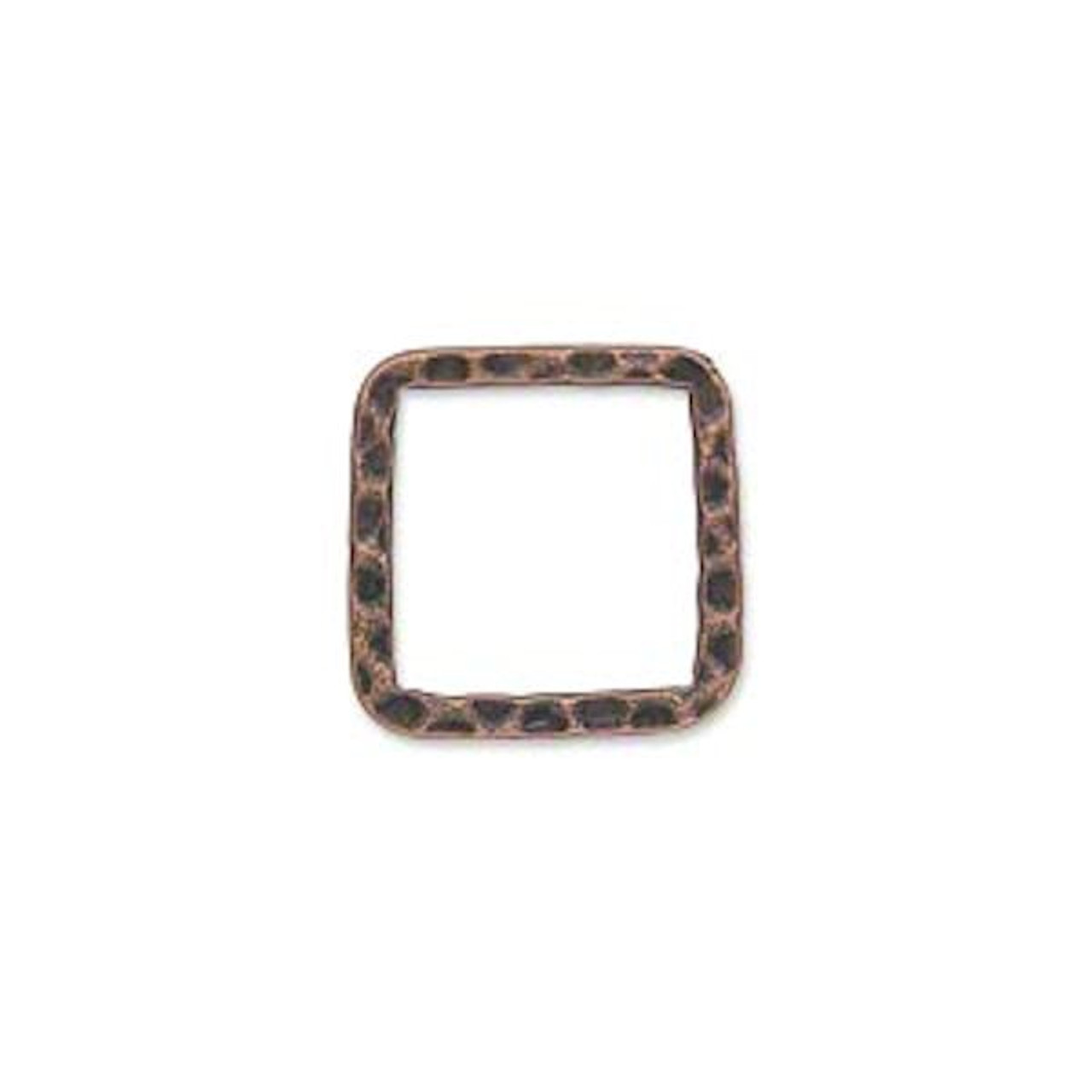 10 Silver Plated Steel 20x20mm Hammered Square Links