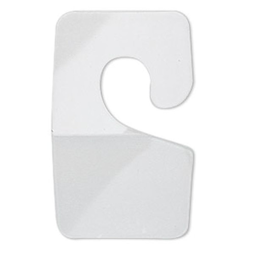 40 Clear 1 3/4x1 Inch HangTab Plastic Display Hooks