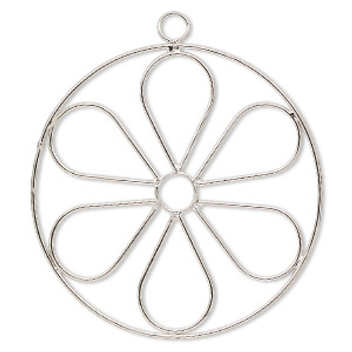 2 Steel Wire Flower Ornament 4 Inch Wire Frame Forms *