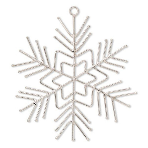 2 Steel Wire Snowflake Ornament 5 1/2 Inch Wire Frame Forms *