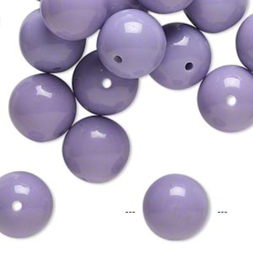 1/4lb Opaque Violet Purple Resin 19-21mm Round Beads *