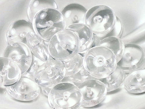 100 Czech Pressed Glass Transparent Clear 6mm Heart Beads *