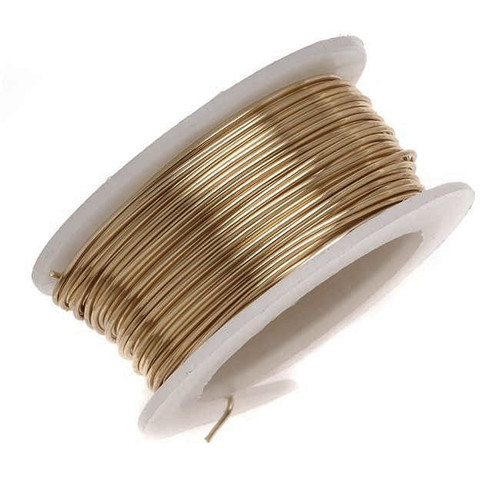 1 Artistic Wire Tarnish Resistant BRASS 6 Yard Spool 20 Gauge Copper Colored Wrapping Wire