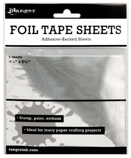 6 Sheet Package Ranger Inkssentials 4.25 x 5.5-Inch Metal Foil Tape Sheets *