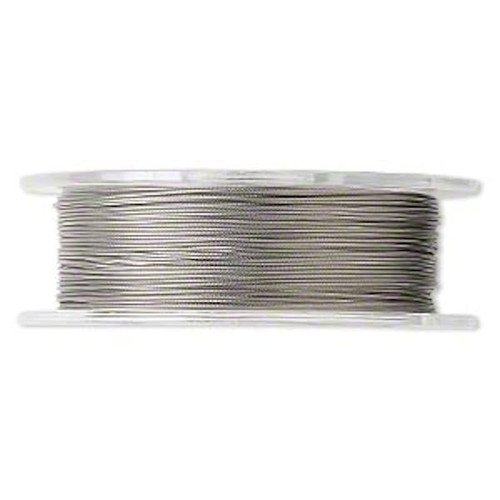100 Foot Spool Tiger Tail Beading Wire   ~  .018-Inch ~ Clear ~ 7 strand