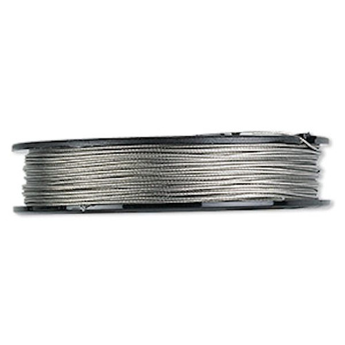 100 Foot Spool 7 Strand Tiger Tail Clear 0.024 Inch Diameter Beading Wire