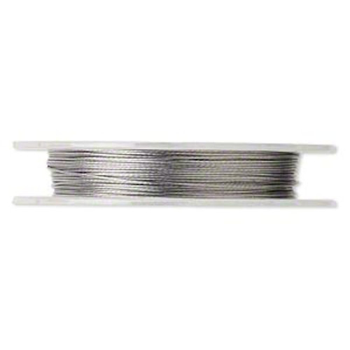 100 Foot Spool 0.015-Inch Clear 7 Strand Tiger Tail Beading Wire