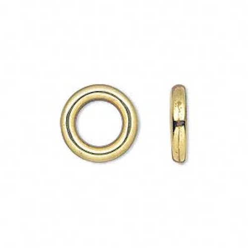 50 Grams Antiqued Gold Metalized Plastic 14mm Round Links *