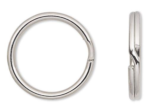 100 Silver Steel 20mm Round Split Rings  Keyrings